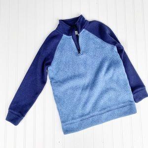 Old Navy blue micro fleece half zip sweatshirt